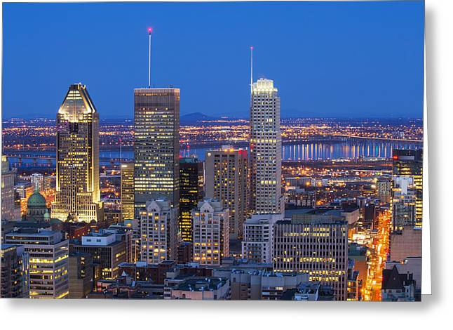 Eavning Greeting Cards - The blue hour Greeting Card by Mircea Costina Photography