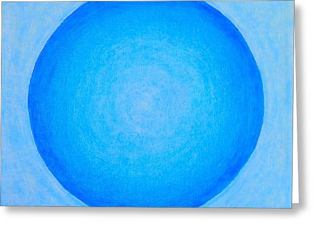 Spirituality Pastels Greeting Cards - The Blue Light Greeting Card by Teresa St George