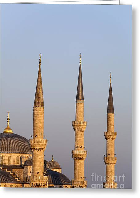 Ahmet Greeting Cards - The Blue Mosque Istanbul Greeting Card by Robert Preston
