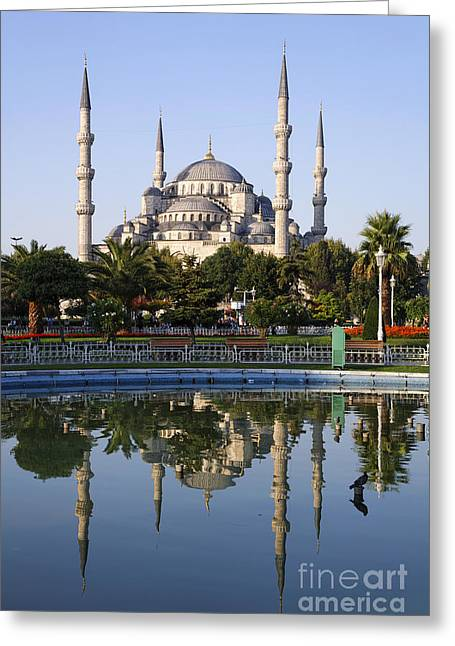 Ahmet Greeting Cards - The Blue Mosque Sultanahmet Istanbul Greeting Card by Robert Preston