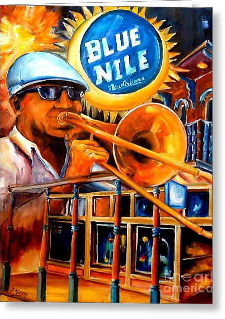 The Blue Nile Jazz Club Greeting Card by Diane Millsap