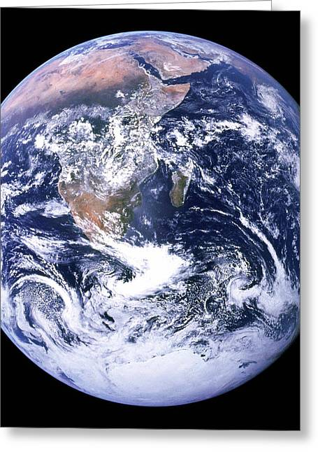 The Blue Planet - The Blue Marble Greeting Card by Celestial Images
