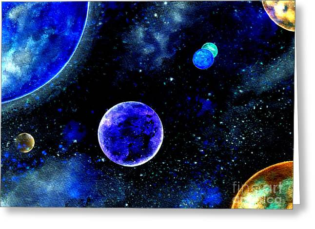 Reception Digital Art Greeting Cards - The Blue Planet Greeting Card by Bill Holkham