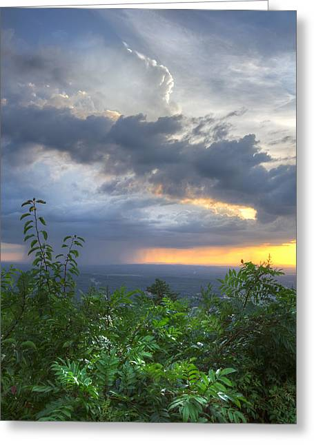 Tennessee River Greeting Cards - The Blue Ridge Mountains Greeting Card by Debra and Dave Vanderlaan