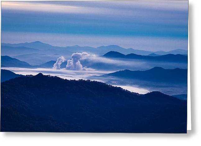 Love Asheville Greeting Cards - The Blue Ridge Mountains Greeting Card by Serge Skiba
