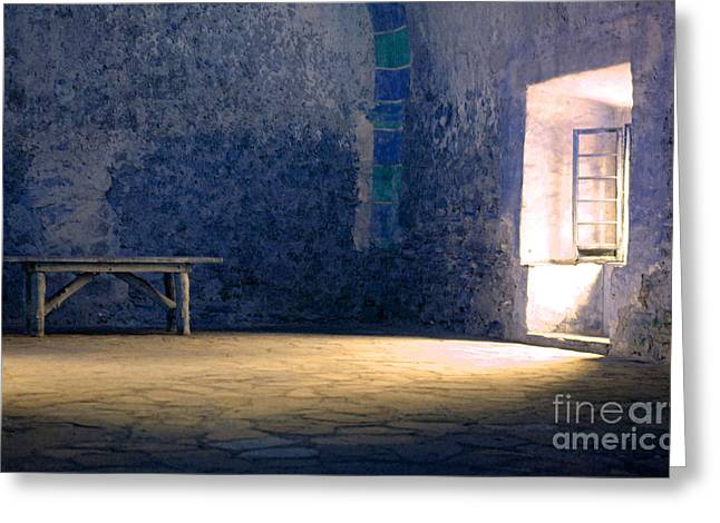 The Blue Room Greeting Card by Bob Christopher