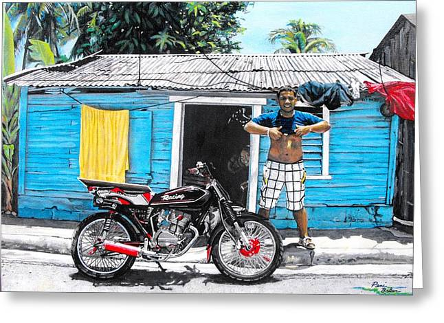 Greater Antilles Greeting Cards - The Blue Shanty Greeting Card by Peni Baker