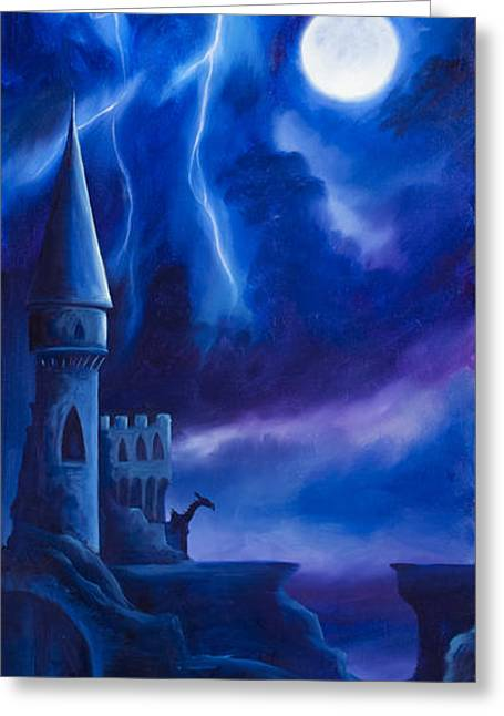 Harem Girl Greeting Cards - The Blue Tower Greeting Card by James Christopher Hill