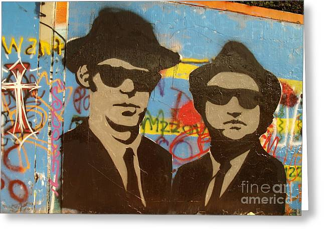 The Blues Brothers Greeting Card by Craig Pearson