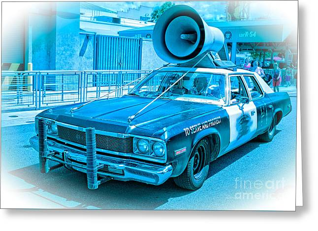 Police Car Greeting Cards - The Blues Brothers Greeting Card by Edward Fielding