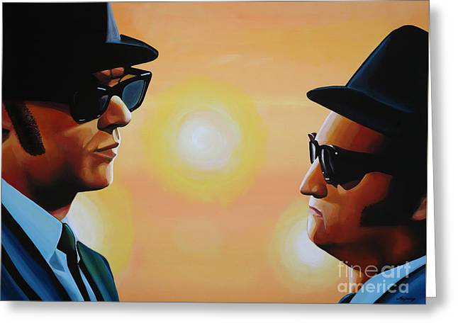 The Blues Brothers Greeting Card by Paul Meijering
