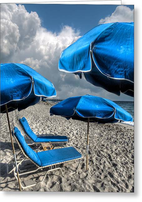 Lounge Photographs Greeting Cards - The Blues Greeting Card by Debra and Dave Vanderlaan