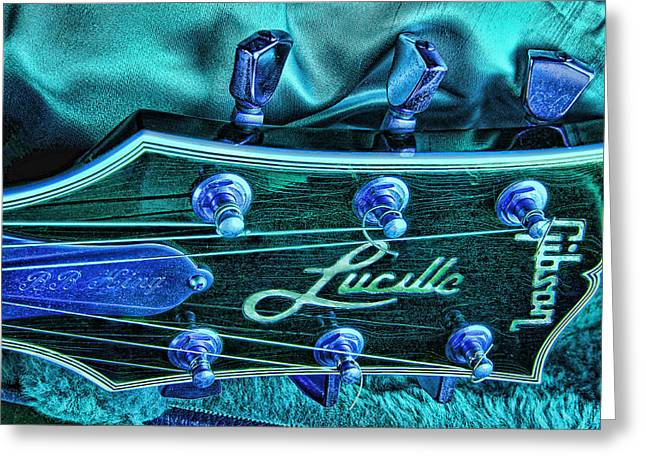 Lucille Greeting Cards - The Blues Greeting Card by Graham Hawcroft pixsellpix