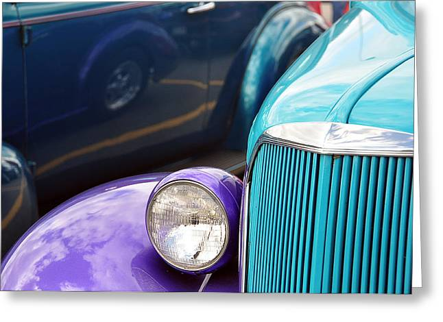 Ford Brown Print Greeting Cards - The Blues Greeting Card by Joanne Brown