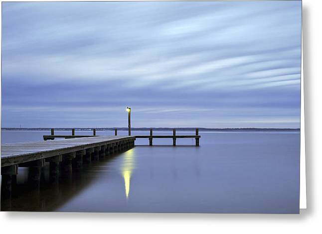 Bathroom Prints Greeting Cards - The Blues Lavallette New Jersey Greeting Card by Terry DeLuco