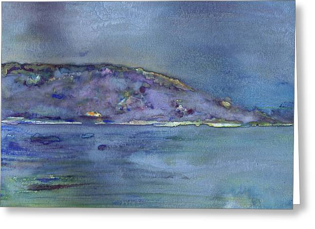 Keuka Paintings Greeting Cards - The Bluff On Keuka Lake Greeting Card by Alan Dale Gross