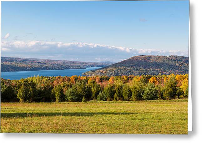 The Bluff On Keuka Lake In Autumn Greeting Card by Panoramic Images