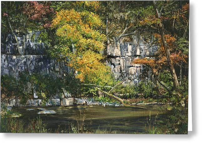 Fall River Scenes Greeting Cards - The Bluffs River Trail Greeting Card by Don  Langeneckert