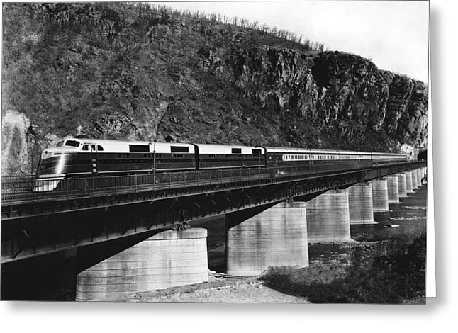 The B&o Capitol Limited Train Greeting Card by Underwood Archives