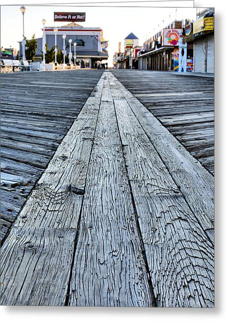 Walk Off Greeting Cards - The Boardwalk Greeting Card by JC Findley