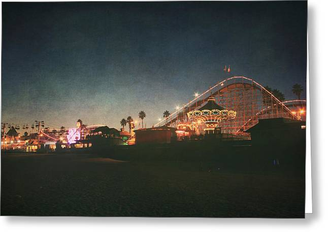 Amusements Greeting Cards - The Boardwalk Greeting Card by Laurie Search