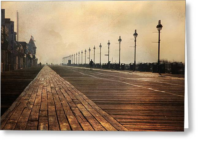 Ldeiter78 Digital Art Greeting Cards - The Boardwalk Greeting Card by Lori Deiter