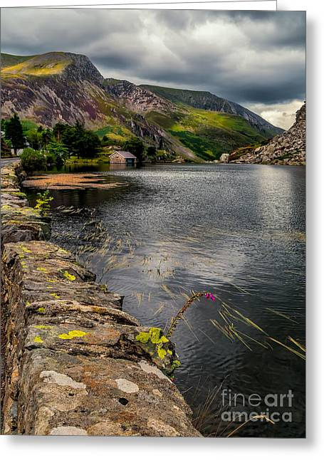 Lakes Digital Greeting Cards - The Boat House Greeting Card by Adrian Evans