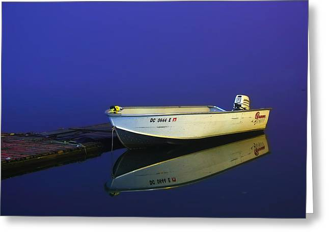 Washington Dc Greeting Cards - The Boat In The Fog Greeting Card by Metro DC Photography