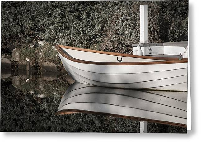 Ego Greeting Cards - The Boat Narcissus Greeting Card by Kevin Bergen