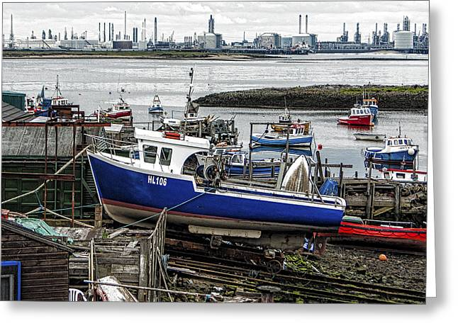The Boat Yard Greeting Card by Trevor Kersley