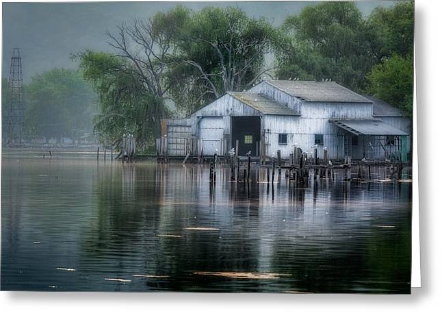Western New York Greeting Cards - The Boathouse Greeting Card by Bill  Wakeley