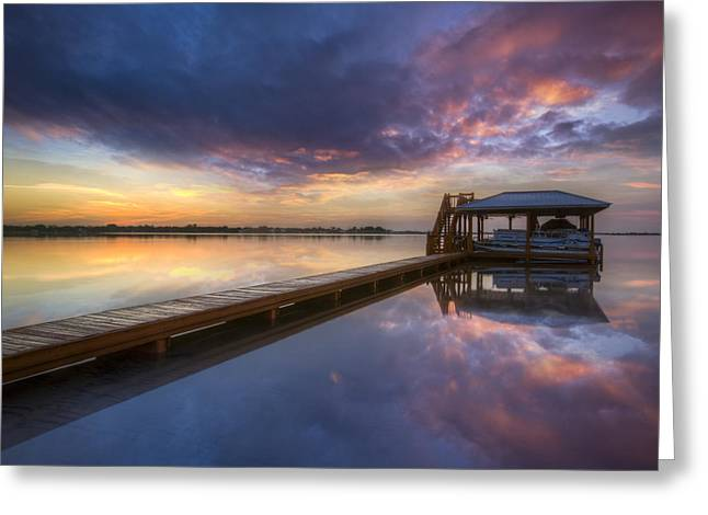 Tropical Beach Greeting Cards - The Boathouse Greeting Card by Debra and Dave Vanderlaan