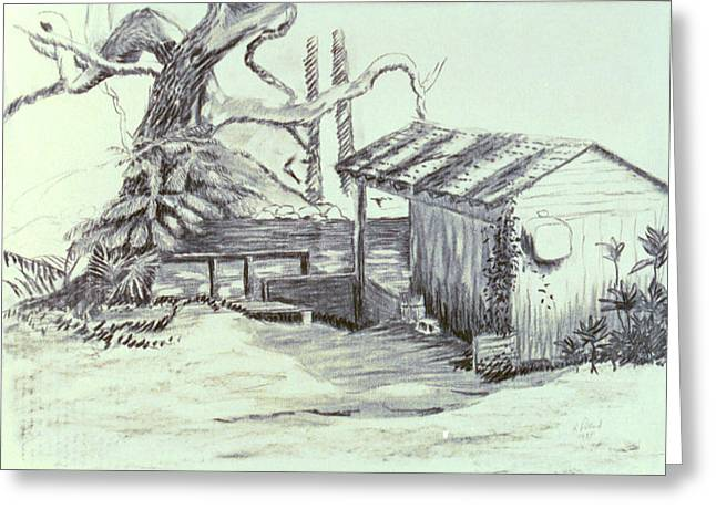 Herschel Pollard Greeting Cards - The Boathouse Greeting Card by Herschel Pollard