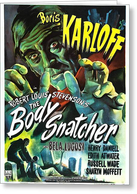 The Body Snatcher Greeting Card by MMG Archives