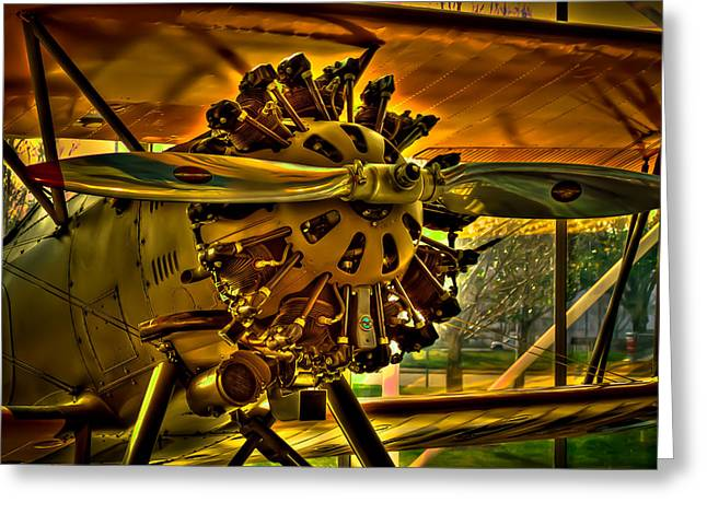 Plane Radial Engine Greeting Cards - The Boeing Model 100 Greeting Card by David Patterson
