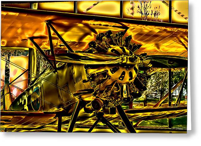 Plane Radial Engine Greeting Cards - The Boeing Model 100 P-12 F4B Greeting Card by David Patterson