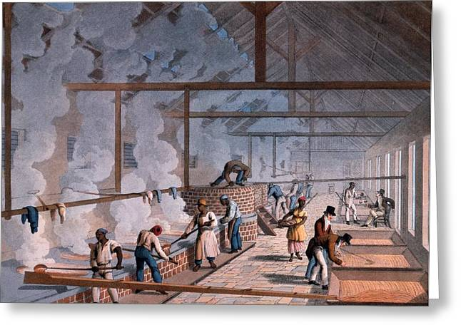 Slaves Greeting Cards - The Boiling House, From Ten Views Greeting Card by William Clark