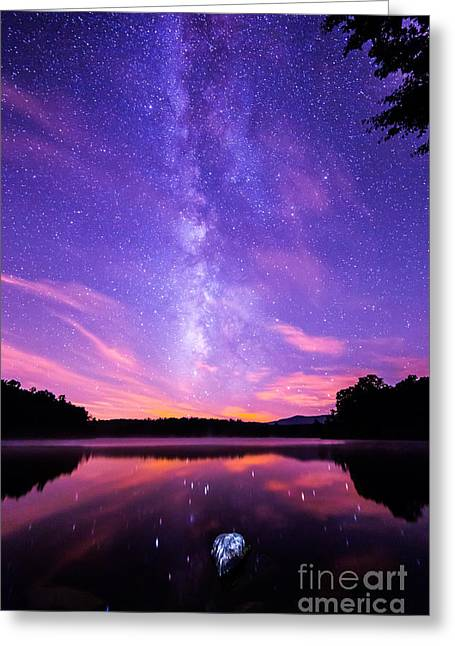 The Bold And Beautiful Milky Way Greeting Card by Robert Loe