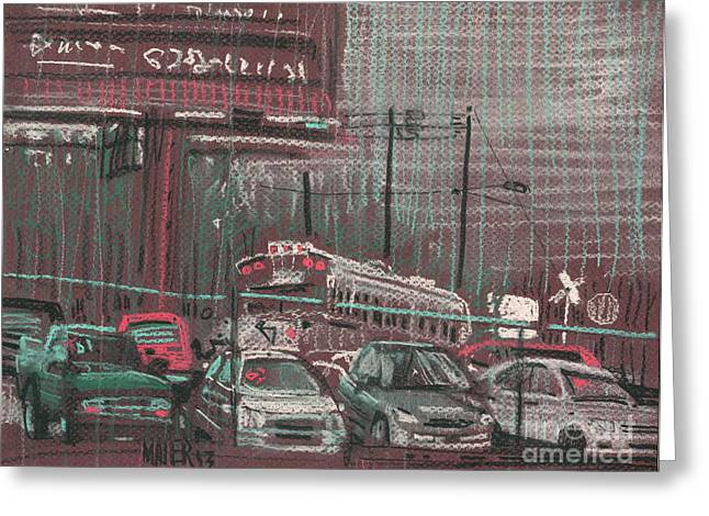 Auto Drawings Greeting Cards - The BoneYard Greeting Card by Donald Maier
