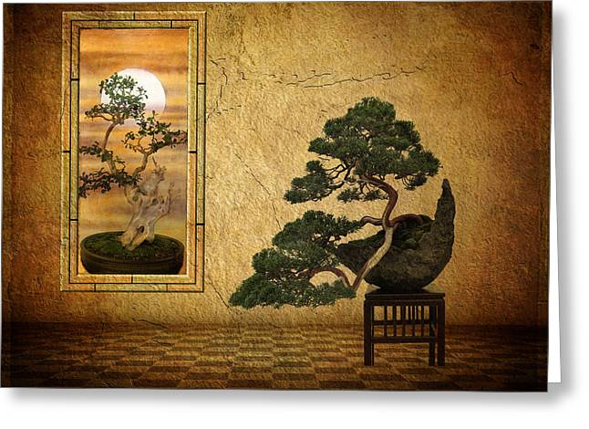 Whimsy Greeting Cards - The Bonsai Room Greeting Card by Jessica Jenney