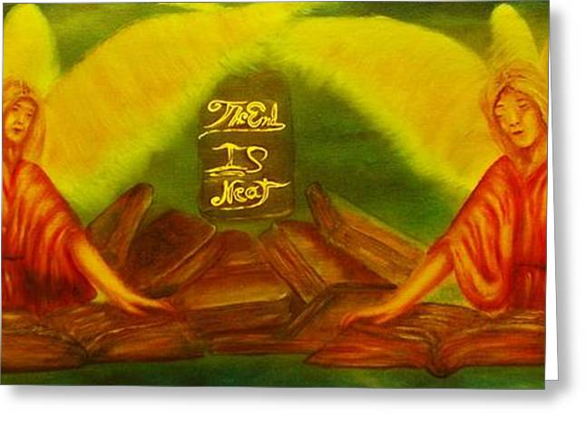 Bible Paintings Greeting Cards - The Books Of Life -Buy Giclee Print Nr 45 Greeting Card by Eddie Michael Beck