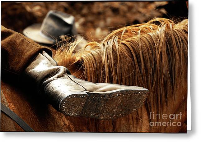 Equestrianism Greeting Cards - The Boot Rest  Greeting Card by Steven  Digman