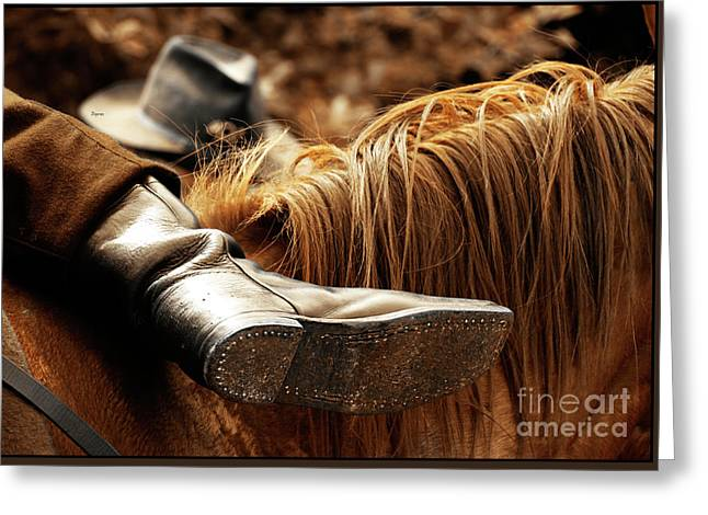 Boots Digital Greeting Cards - The Boot Rest  Greeting Card by Steven  Digman