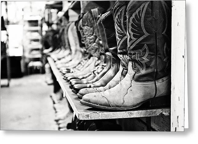 Texas Boots Greeting Cards - The Boot Store Greeting Card by Scott Pellegrin