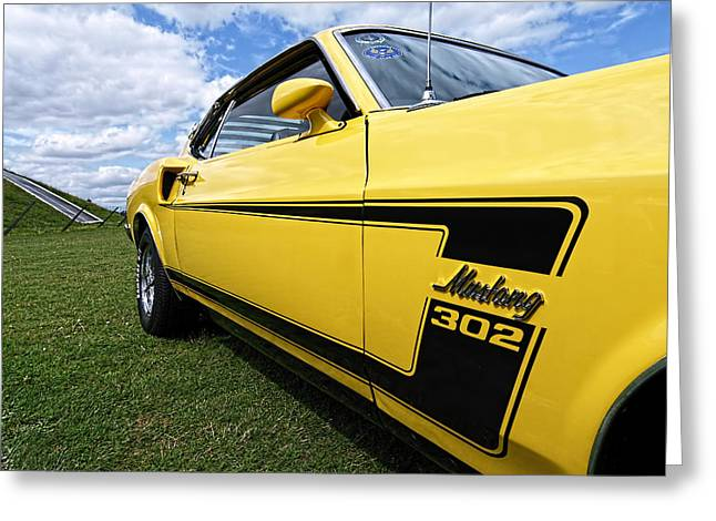 The Boss Greeting Cards - The Boss - 69 Mustang 302 Greeting Card by Gill Billington