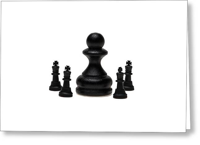 Chess Piece Greeting Cards - The Boss Greeting Card by Alexander Senin