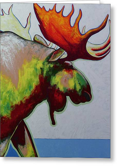 Vivid Color Palette Greeting Cards - The Boss Greeting Card by Joe  Triano