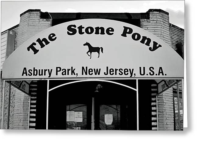 Night Cafe Greeting Cards - The Boss Stone Pony Asbury Park Greeting Card by Terry DeLuco