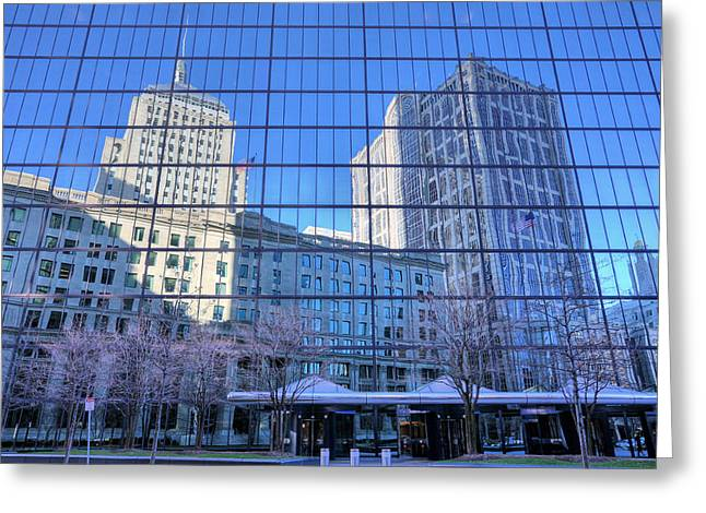 The Boston Skyline Greeting Card by JC Findley