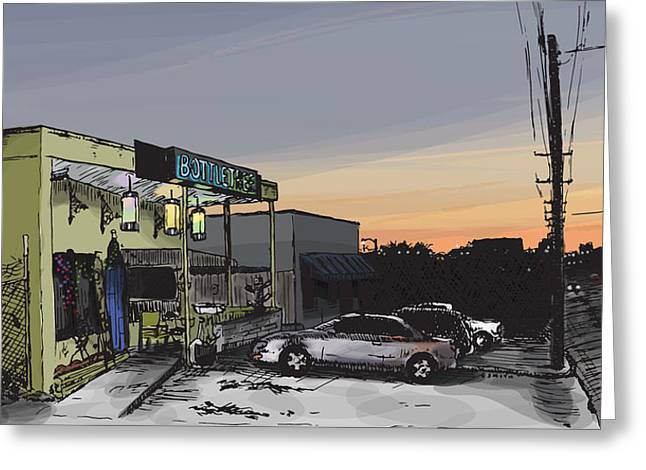 Alabama Drawings Greeting Cards - The Bottletree Cafe Greeting Card by Greg Smith
